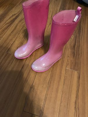 Rain boots girls - kids youth size 13 for Sale in Plano, TX