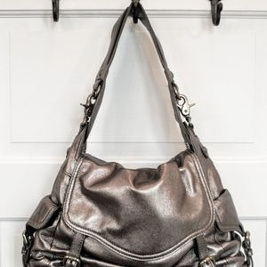 Kooba Metallic Pewter Leather Hobo Handbag Purse for Sale in Monroe, WA