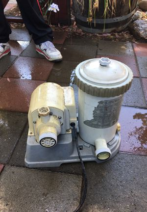 Pool pump with reusable filters for Sale in Modesto, CA