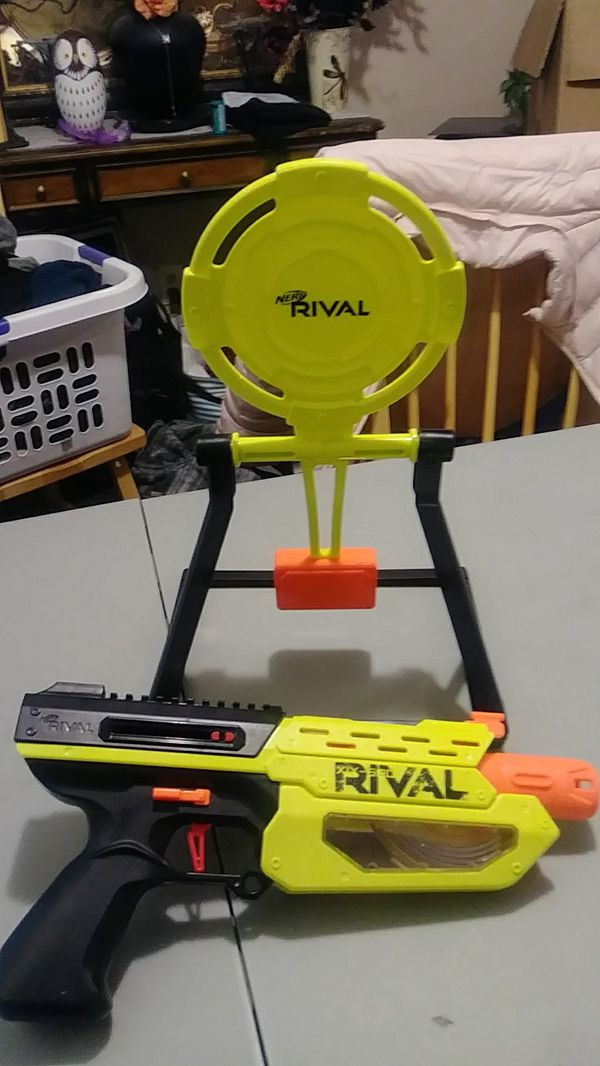 Nerf Rival XIX-500 toy dart gun.