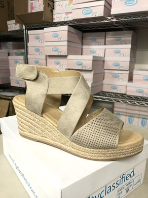 Woman size 10 preview clay perforated espadrille sandal for Sale in Eastvale, CA