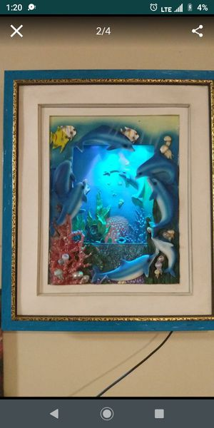 Beautiful dolphins light up lamp 3D for Sale in Corona, CA