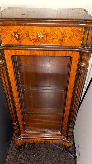 Antique oak wood cabinet for Sale in View Park-Windsor Hills, CA