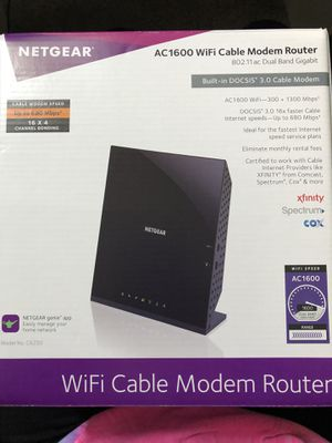 NETGEAR WiFi Cable Modem Router for Sale in SELFRIDGE, MI