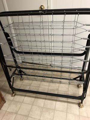 Bed frame with rollers, moving out SALE! for Sale in West Orange, NJ