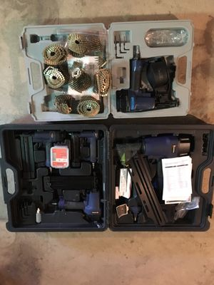 Complete nail gun set for Sale in Morgantown, WV