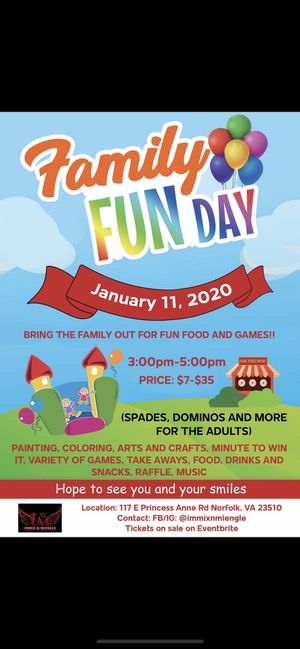 FAMILY FUNDAY for Sale in Chesapeake, VA