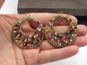 Vintage Large Colorful Beaded Dangle Earrings Costume Jewelry Wedding Anniversary Beautiful Everyday Minimalist Cute Sexy for Sale in Everett, WA