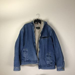 Lee Denim Jacket Hooded Sherpa Mens Large for Sale in Norco, CA
