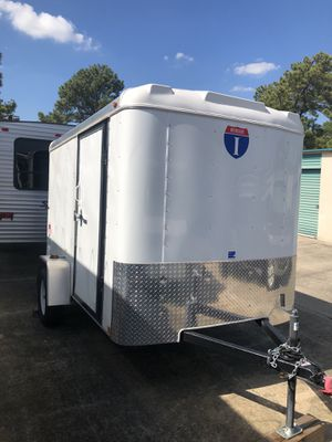 For sale new 2020 box trailer white,Manufacture:Interstate. 6x10 victory single axle. Including trailer conector adapter,tool lug wrench, hitch pin for Sale in Houston, TX