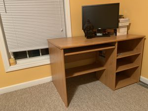 Computer Table with Keyboard tray and shelves for Sale in Hudson, NH