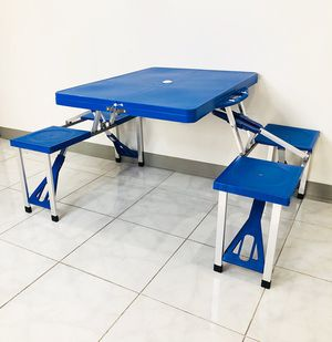 $45 NEW Picnic Table, Portable Folding Camping Bench Set (Max Table 65lbs, each Chair 175lbs) for Sale in Pico Rivera, CA