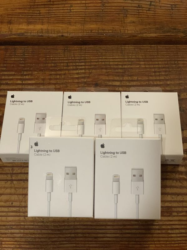 5 pcs Original Apple iPhone Lightning Charger USB Cable 2m/6ft