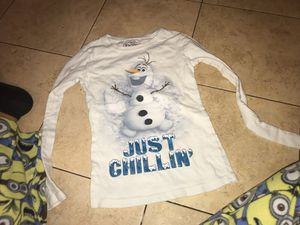 Girls Olaf long sleeve size 7/8 for Sale in Fort Worth, TX