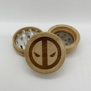 Dead pool laser engraved wood kitchen herb grinder valentines gift for Sale in Los Angeles, CA