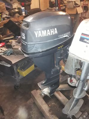 Yamaha 15hp 4-stroke electronic ignition long-shaft outboard motor for Sale in Largo, FL
