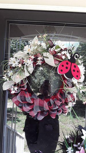 Ladybug mesh wreath for Sale in Selma, NC
