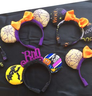 Halloween mickey ears handcrafted new for Sale in Palo Alto, CA
