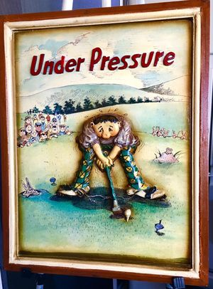 """Vintage 1960s, Funny hand made decorative wall art """"Under Pressure"""" for Sale in Sun Lakes, AZ"""