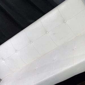 Futon Bed Sofa Couch WHITE for Sale in South Gate, CA