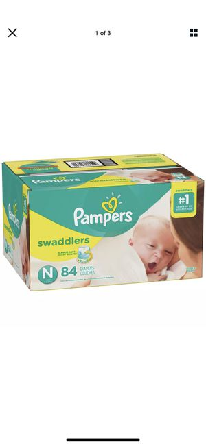 Pampers newborn diapers 84ct for Sale in Tempe, AZ