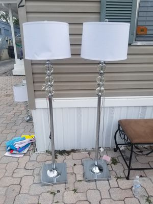 Floor glass lamp with chrome base for Sale in Palm Springs, FL