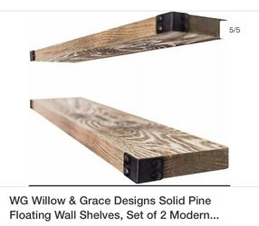 WG willow and grace designs solid pine floating wall shelves. Set of 2 for Sale in Sugar Grove,  IL