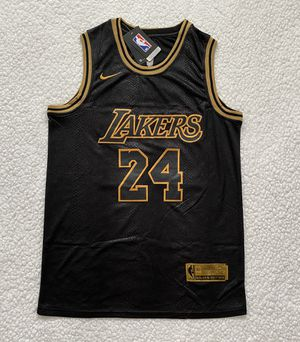 """Kobe Bryant Los Angeles Lakers NBA Jersey - Brand New - Men's - Nike Golden Edition NBA Black """"Mamba Leather"""" Basketball Jersey - M and L for Sale in Chicago, IL"""
