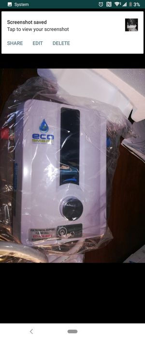 Ego 8 tankless water heater opened but new for Sale in Moreno Valley, CA