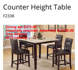 Dining set. Assembly required. Free delivery. for Sale in Downey, CA