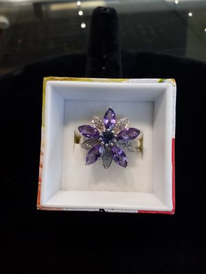 Silver purple flower ring for Sale in Milwaukie, OR