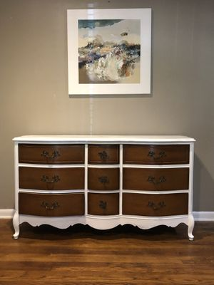 Beautiful French Provincial 9 drawer dresser/buffet for Sale in Richardson, TX