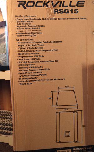 """Rockville RSG15 15"""" 3 Way Loudspeaker for Sale in Victorville, CA"""