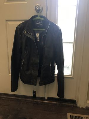 """Woman's """"Leather"""" Jacket - Express Brand -Size M/M for Sale in Aspen Hill, MD"""