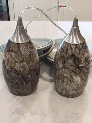 Set of 2 Pendant Light Fixtures for Sale in Pataskala, OH