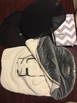 Baby car seat cover and winter canopy, 2 windows sun block for Sale in Columbia, SC