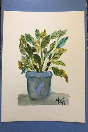 Potted Plant Watercolor painting for Sale in Elkridge, MD