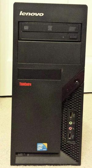 Lenovo think centre 3.0ghz Dual core desktop 250gb hd 4gb ram windows 10 pro for Sale in Pittsburgh, PA