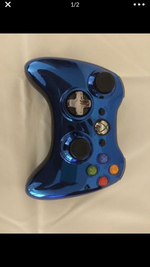 Xbox 360 blue chrome wireless game controller for Sale in Los Angeles, CA