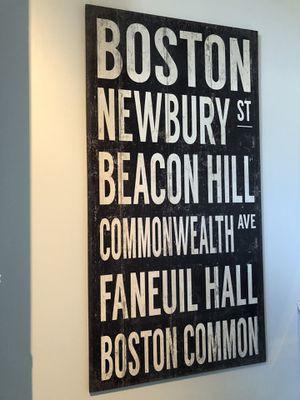 Wooden Boston sign for Sale in Boston, MA