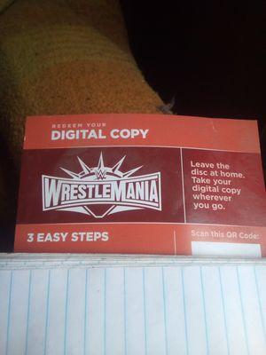 Wrestling mania? Digital copy for Sale in Ontario, CA