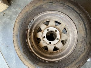 3 used ST trailer tire 175x80-13 with used rim $100 for Sale in Rancho Cucamonga, CA