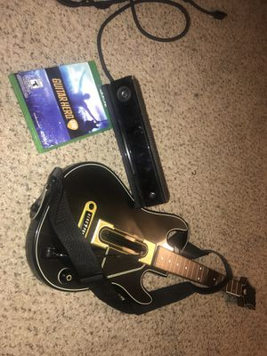 Xbox one Kinect guitar hero game and guitar for Sale in Atlanta, GA