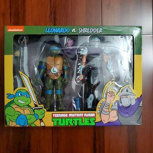 NECA TMNT Leonardo vs ShredderTeenage Mutant Ninja Turtles Target 2-Pack for Sale in Diamond Bar, CA