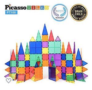 Picasso Tiles PT100 82 piece magnet tile set Imagination Beyond for Sale in San Diego, CA