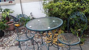 Handcrafted wrought iron metal patio furniture for Sale in Saint Petersburg, FL
