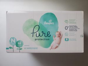 Pampers Pure Protection Diapers, Newborn, 68 count for Sale in North Royalton, OH