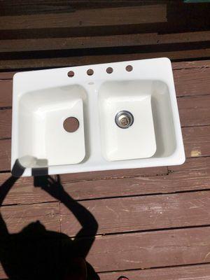 Koehler white cast iron Kitchen sink for Sale in Pinetop, AZ