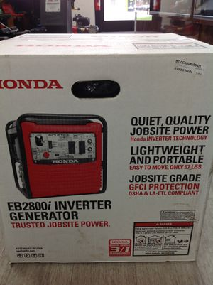 Honda inverter generator super quiet 2800 watt for Sale in Dearborn Heights, MI