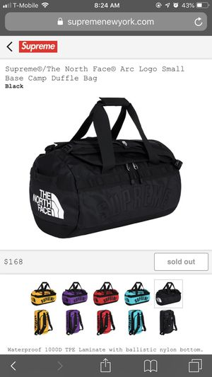 0444d8a77776 Supreme x TNF Arc logo backpack duffel bag for Sale in Tacoma